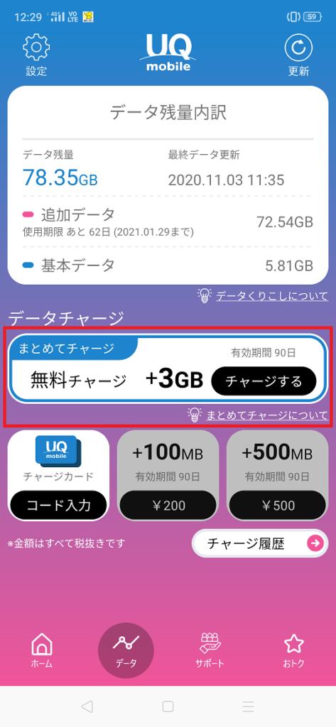UQモバイル「増量オプション」